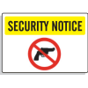 Security Notice Signs - No Firearms Graphic