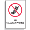 No Cellular Phones Security Signs