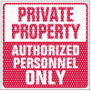 See Thru Security Labels - Private Property