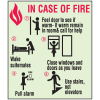 In Case of Fire - Glow-In-The-Dark Fire Exit Sign