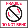 Fragile Do Not Bend Shipping Labels