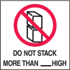 Do Not Stack More Than High Shipping Labels