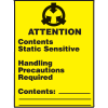 Attention Contents Static Sensitive Shipping Labels