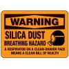 Silica Dust Breathing Hazard - Silica Safety Signs