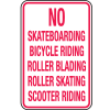 Skateboard Signs- No Skateboarding…