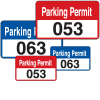 Bumper Decals Stock Parking Permit Tags