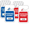 Rear View Mirror Tags - Stock Parking Permit Tags