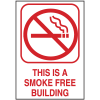 This Is A Smoke Free Building Engraved No Smoking Signs