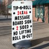 Tip N Roll Portable Sign - Standard Message Board