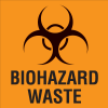 Waste Sort Labels - Biohazard Waste