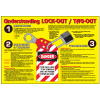 Lockout / Tagout Workplace Safety Wallchart