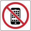 No Cell Phone Signs and Labels - Graphic Only