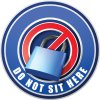 3D Bus Decals - Do Not Sit Here - Blue