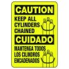 Bilingual Caution All Cylinders - Industrial Cylinder Sign