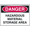 Danger Signs - Hazardous Material Storage Area