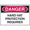 Danger Signs - Hard Hat Protection Required