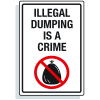 Dumpster Signs- Illegal Dumping Is A Crime (Graphic)