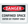 FireFly Reflective Safety Signs - Danger - Confined Space Permit Only
