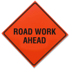 Roll Up Signs - Road Work Ahead