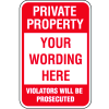 Semi-Custom Security & Stop Signs - Violators