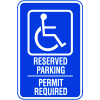 Symbol Of Access Reserved Parking Signs - Permit Required