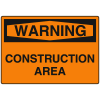 OSHA Warning Signs - Construction Area