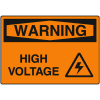 OSHA Warning Signs - High Voltage