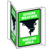 3-Way View Fire Safety Signs - Severe Weather