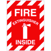 Fire Extinguisher Inside Self-Adhesive Vinyl Fire Equipment Signs