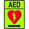 1-Way View Luminous AED Sign - Automated External Defibrillator