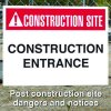 Construction Site Safety Signs - Construction Entrance