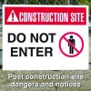 Construction Site Safety Signs - Do Not Enter with Graphic