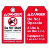 Do Not Start Equipment Locked-Out - ANSI Lockout Tags