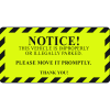 Parking Control Labels - Notice Vehicle Is Improperly Parked
