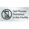 Engraved No Cell Phone Signs - Cell Phones Prohibited
