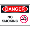 Extra Large OSHA Signs - Danger No Smoking (w/ Symbol)
