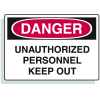 Extra Large OSHA Signs - Danger - Unauthorized Personnel Keep Out