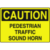 Caution Pedestrian Traffic Sound Horn Forklift Traffic Signs