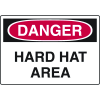 Harsh Condition OSHA Signs - Danger - Hard Hat Area