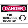 Danger Ear Protection Required Sign (w/ Symbol)