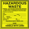 Liquid N.O.S. Hazardous Waste Container Labels