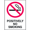 Graphic No Smoking Signs - Positively No Smoking