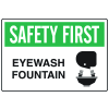 OSHA Informational Signs - Eyewash Fountain