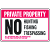 Property Security Signs - No Fishing