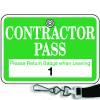 Numbered Badge Sets - Contractor Pass - Lanyard