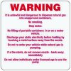 W-2 Custom Warning sign for Fuel Pumps - Vinyl