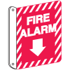 Fire Alarm Signs - Double Sided, Down Arrow