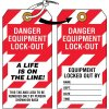 Danger Equipment Lock-Out  - Lockout Tag, Cardstock