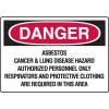 OSHA Danger Signs - Asbestos Hazard Authorized Personnel Only