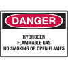Danger Signs - Hydrogen Flammable Gas No Smoking Or Open Flames